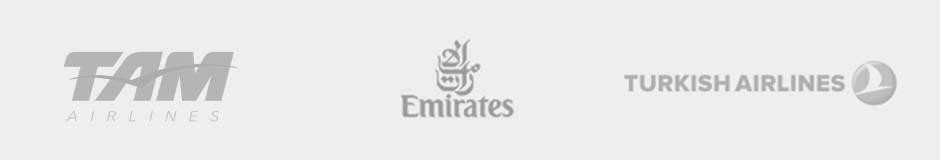 tam airlines, emirates, turkish airlines