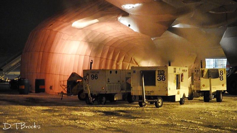 portable inflatable hangar b777