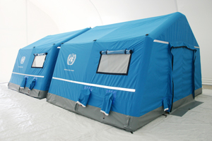 Inflatable emergency shelters