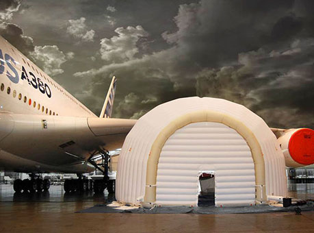 airbus a380 inflatable hangar