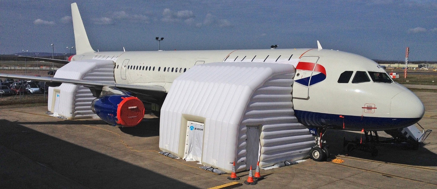 What is an inflatable hangar