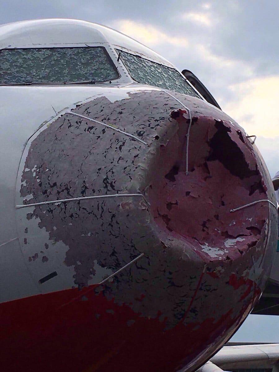 How hail affects aircraft